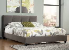 Fabric Platform Bed King Upholstered Platform Bed With Channel Tufted Headboard By