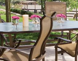 Aluminium Patio Furniture Sets Furniture Montreux Sling Patio Dining Set By Tropitone Furniture