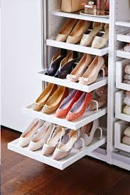 pleasing closet organizer with pull out shoe rack roselawnlutheran