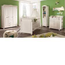 babyzimmer landhausstil kinderzimmer lara kleiderschrank 3trg kiefer massiv weiß