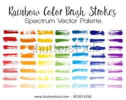 rainbow color brush strokes red orange stock vector 653674156