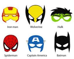 instant dl 6 superhero mask cut birthday party printable