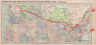Algonquin Map File Map 1914 Usa Canada Jpg The Arthur Conan Doyle Encyclopedia