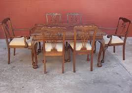 French Antique Chippendale Dining Room Table - Chippendale dining room furniture