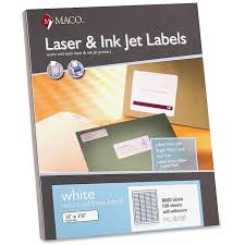 maco ml 8100 white address labels permanent adhesive 1 2 width