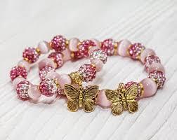 rose stone bracelet images 10th birthday gift etsy jpg