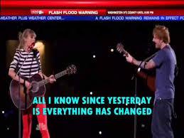 everything has changed testo everything has changed ft ed sheeran lyrics on