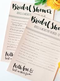 bridal advice cards 10 printable bridal shower to diy
