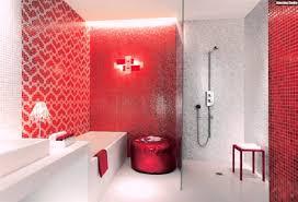 badezimmer rot mosaik fliesen badezimmer rot akzentwand herzen