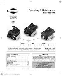briggs u0026 stratton 90000 10000 user manual 20 pages