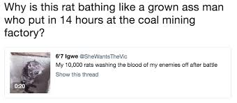 Rats Ass Meme - why is this rat bathing like a grown ass man who put in 14 hours