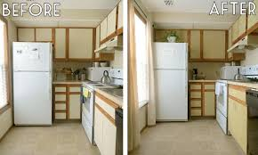 Kitchen Before And After Makeovers Kitchen Cabinet Makeover Diy Home Design Ideas