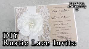 rustic pocket wedding invitations how to make a rustic wedding invitation diy invitations youtube