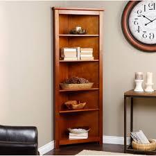 Corner Bookcase Wood Interior Wooden Corner Bookcase For Exciting Interior Storage