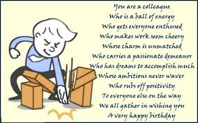 awesome poem birthday wishes for coworker e card nicewishes