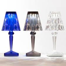 Small Crystal Bedroom Lamps Kartell Portable Led Rechargeable Battery Table Lamp Stardust