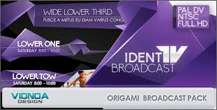 origami broadcast package by vidnoadesign videohive