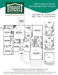 Florida Home Floor Plans Henry Company Homes East Navarre Scattered Lots Campbell 1182979