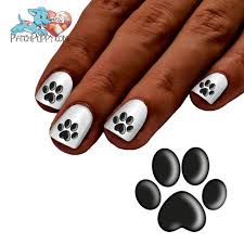 shadow paw print nail art decals now 50 more free u2013 patch puppy