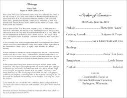 memorial program wording 10 best images of sle obituary program sle obituary