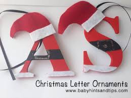 diy letter ornaments baby hints and tips