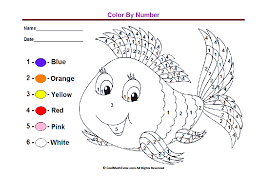 color by number worksheets for kindergarten coloring free