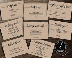 wedding insert cards pdf template instant download enclosure