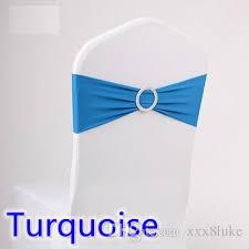 sash ribbon turquoise colour wedding chair sash spandex band with diamond buckle