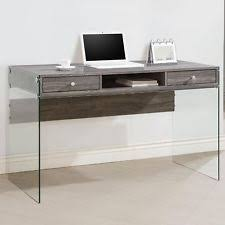 Desk For Bedrooms 800818 Coaster Furniture Computer Desk With Glass Sides In