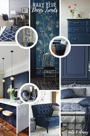 Dark Blue Accent Wall by Navy Blue Interior Decor Trends Inspiration Arts And Classy