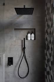 best 25 modern shower ideas on pinterest modern bathrooms matte black accents add sophistication to this grey and white bathroom bathroom shower headsshower ideas