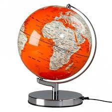 earth globes that light up wild and wolf wild wood light up globe goldfish orange 10