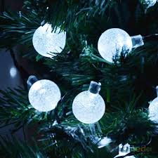 white solar string light