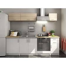 cuisine blanc laqué et bois plan de travail blanc laqué cuisine beige laque plan de travail