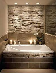 bathroom accent wall ideas accent wall accent wall and bathtub decor in earthy