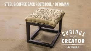 26 steel coffee sack footstool ottoman diy curious creator
