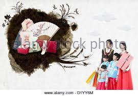 celebration card for korean thanksgiving day stock photo royalty