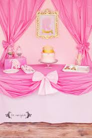 themed table cloth complete pink princess party for less than 20 five marigolds
