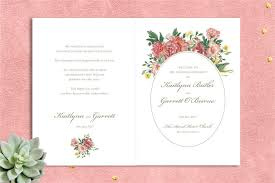 wedding ceremony program covers watercolour garden ceremony booklet printable ceremony cover
