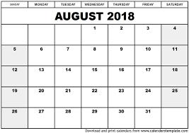 printable calendar 2018 august august calendar 2018 printable daway dabrowa co
