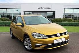 volkswagen yellow used volkswagen golf se yellow cars for sale motors co uk