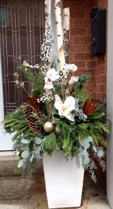 Christmas Decorations Outdoor Urns best 25 christmas planters ideas on pinterest outdoor christmas