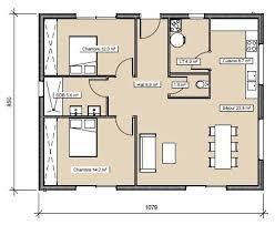 plan plain pied 2 chambres plan de maison chambres salon moderne de maison 2 chambres salon