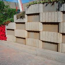 hollow concrete block for retaining walls for garden