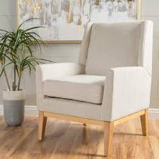 Patterned Accent Chair Crosby Fabric Accent Chair Beige