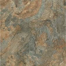 Table Mesa Brown Rock by Stone U0026 Slate Look Vinyl Flooring You U0027ll Love Wayfair