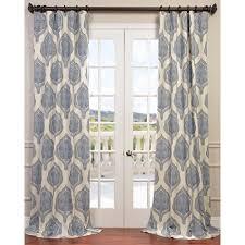exclusive fabrics u0026 furnishing arabesque blue printed cotton twill