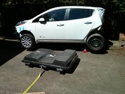 lifted nissan car how to drop a nissan leaf battery pack without an auto lift