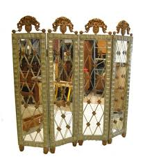 room divider screens silver and copper four part room divider mirrored screen by john