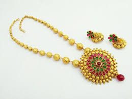 indian bridal jewelry necklace images Indian gold necklace kemp necklace set w earrings matte gold etsy jpg